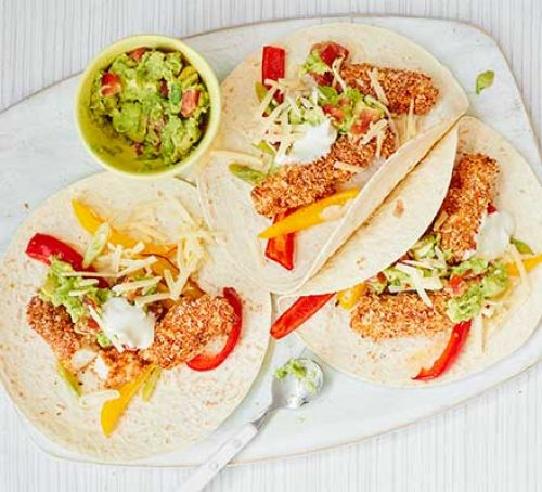 Lightly Spiced Fish Fajitas